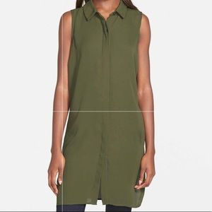 NWT Nordstrom Trouve Olive Tarmac Tunic